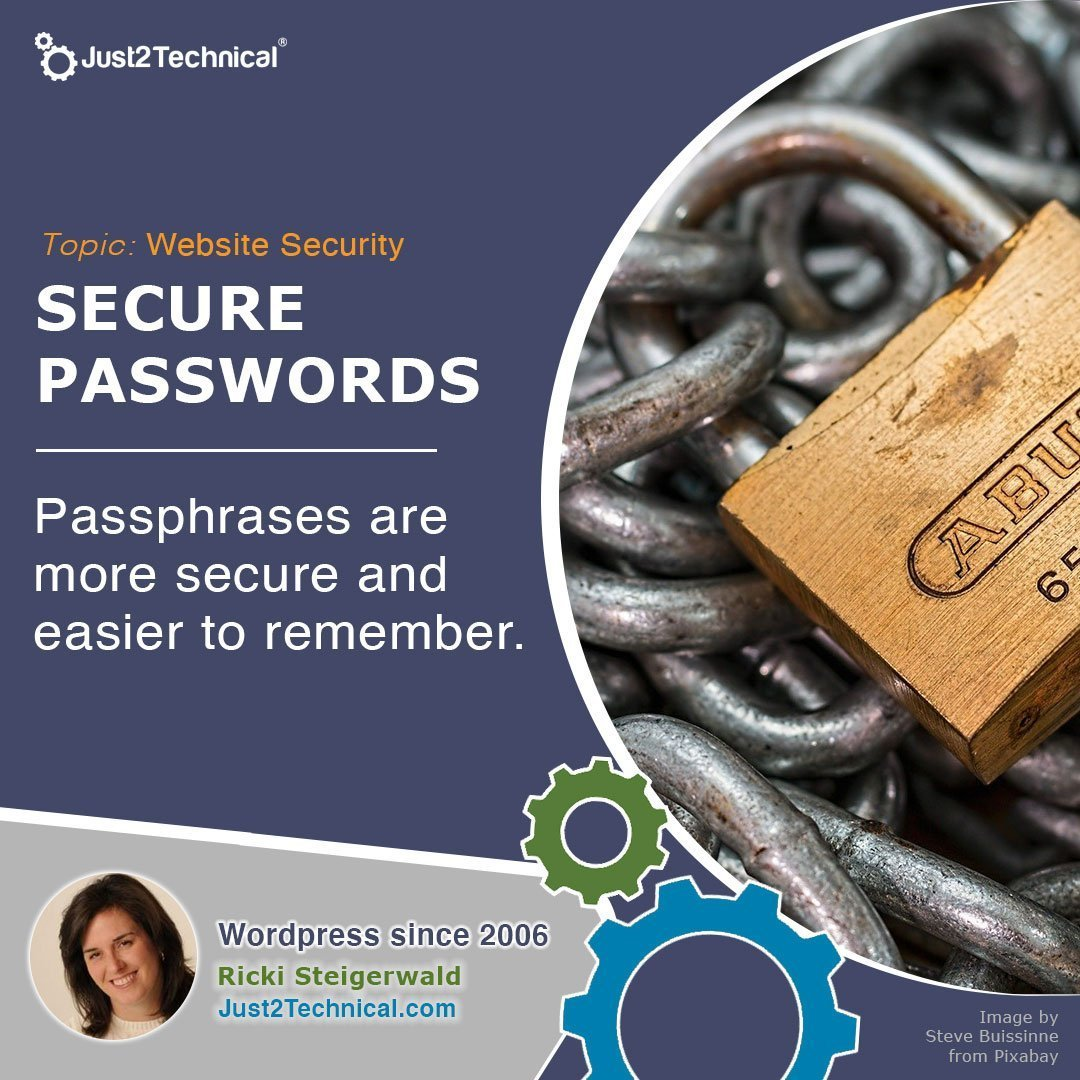 Passphrases are more secure and easier to remember