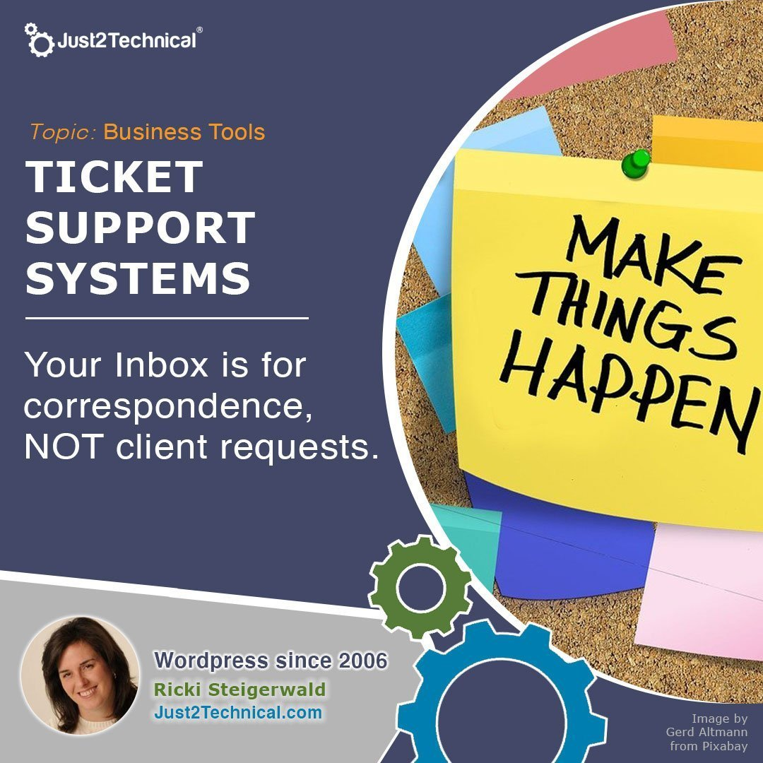 Your Inbox is for correspondence, NOT client requests.
